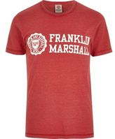 River Island Red Franklin And Marshall Print T-shirt