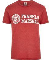 River Island Mens Red Franklin & Marshall print T-shirt