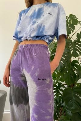 Iets Frans... iets frans. Tie-Dye Joggers - Purple XS at Urban Outfitters