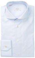 Eton Long Sleeve Slim Fit Light Blue Print Dress Shirt
