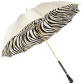 Cream Zebra UV Parasol Umbrella