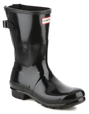 Hunter Short Gloss Adjustable Rain Boot