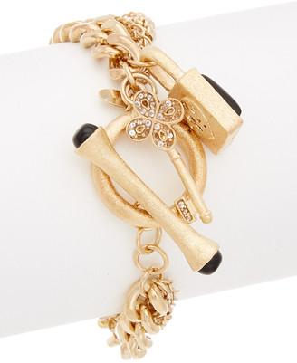 Rivka Friedman 18K Gold Clad Black Onyx Bracelet