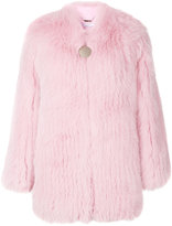 Givenchy fox fur collarless jacket - women - Silk/Cotton/Fox Fur/Acetate - 36