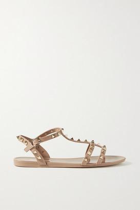 Valentino Garavani Rockstud Rubber Sandals - Blush