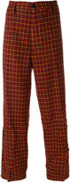 Marni houndstooth wide leg trousers