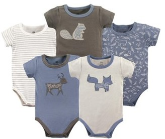 Yoga Sprout Baby Boy Short Sleeve Bodysuits, 5-pack