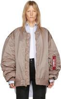 Vetements Reversible Pink Alpha Industries Edition Bomber Jacket