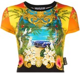 Versace graphic print cropped T-shirt
