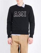 Ami Alexandre Mattiussi Logo-embroidered cotton sweatshirt