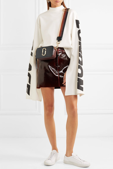 Marc Jacobs Snapshot Textured-leather Shoulder Bag