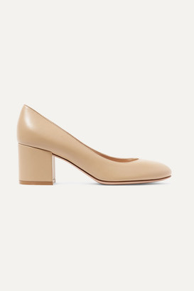 Gianvito Rossi 60 Leather Pumps - Beige