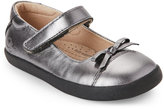 Old Soles Toddler Girls) Rich Silver Sista Mary Jane Shoes