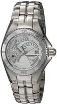 Technomarine Women's Quartz Watch with White Dial Analogue Display and Silver Stainless Steel Bracelet TM-115202