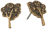 Marc Jacobs Charms Pave Tree Studs Earrings