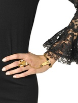Emilio Pucci Plated Brass Bracelet With Ring