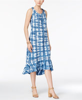 Style&Co. Style & Co Ruffle-Hem Tie-Dyed Dress, Created for Macy's