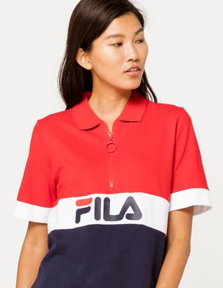Fila Tiki Quarter Zip Womens Polo Shirt