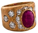 Buccellati 18K Ruby & Diamond Band