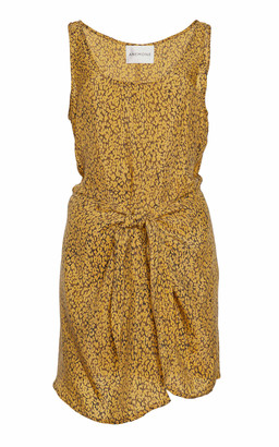 Anemos Sleeveless Cupro Wrap Dress
