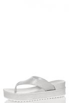 Quiz Silver Glitter Wedge Sandals
