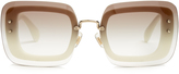 Miu Miu Reveal rectangle-frame sunglasses
