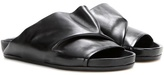 Rick Owens Leather Slip-on Sandals