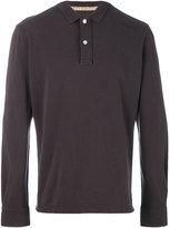 Eleventy classic long sleeve polo shirt