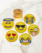 Kim Seybert Emoji Coasters, 6-Piece Set