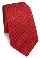 Armani Collezioni Micro Dotted Silk Blend Tie