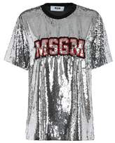 MSGM Women's Silver Polyester T-shirt.