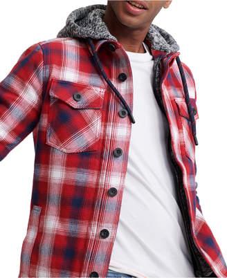 Superdry Men Everest Storm Hooded Plaid Shirt