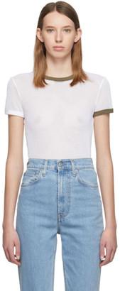 Helmut Lang White Cotton Mesh Baby T-Shirt