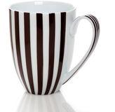 Henri Bendel Brown & White Stripe Mug