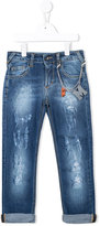 MSGM distressed jeans - kids - Cotton/Spandex/Elastane - 12 yrs