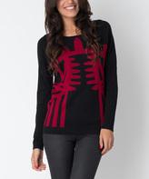 Yuka Paris Black & Carmine Carla Sweater