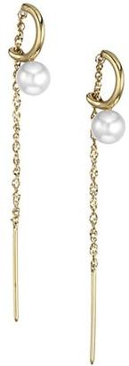 Celara 14K Yellow Gold & 6MM Pearl Threader Earrings