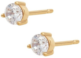 Wanderlust + Co Brilliant Topaz Gold Sterling Silver Earrings