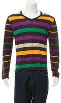 Etro Striped V-Neck Sweater