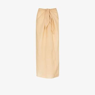 Anemos Wrap Front Midi Skirt
