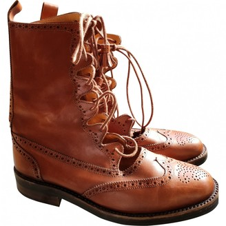 Ralph Lauren \N Camel Patent leather Ankle boots