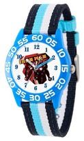 Marvel Boys' Marvel's Civil War Iron Man Blue Plastic Time Teacher Watch - Multi