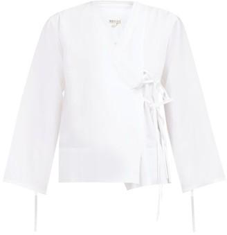 Bailey Belize Cotton-poplin Wrap Shirt - Womens - White