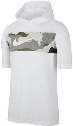 Nike Men Dri-fit Colorblocked Camo Hoodie