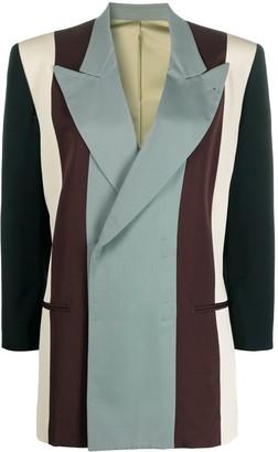 Jean Paul Gaultier Pre Owned 1994 Colour-Block Striped Blazer