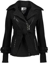 Kensie Black Studded Wool-Blend Coat