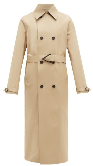 Bottega Veneta Double-breasted Twill Trench Coat - Beige
