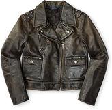 Ralph Lauren 2-6X Leather Moto Jacket