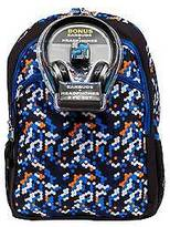 """Fab 17"""" Starpoint Octagcamo Backpack with Headphones - Blue"""