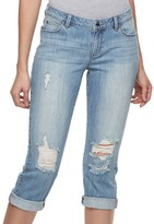 JLO by Jennifer Lopez Women's Ripped Capri Jeans